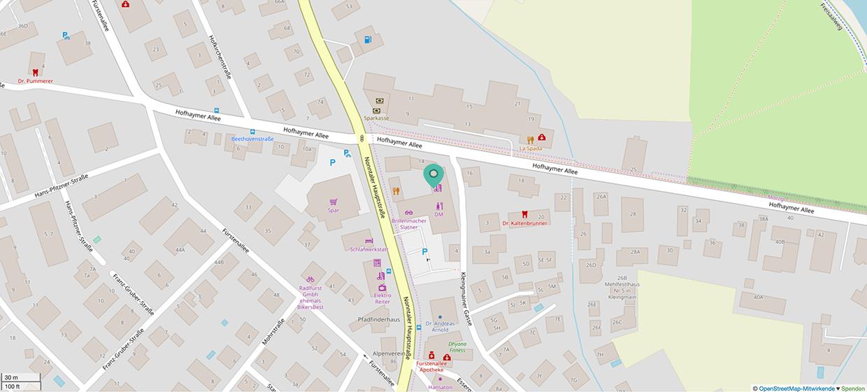 Anfahrt - Openstreet Map